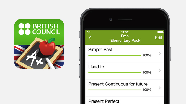 Introduction to the LearnEnglish Grammar app;  An easy way to reinforce grammar