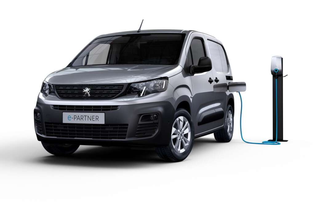 Peugeot e-Partner electric van with 50 kWh battery and 275 km range was introduced