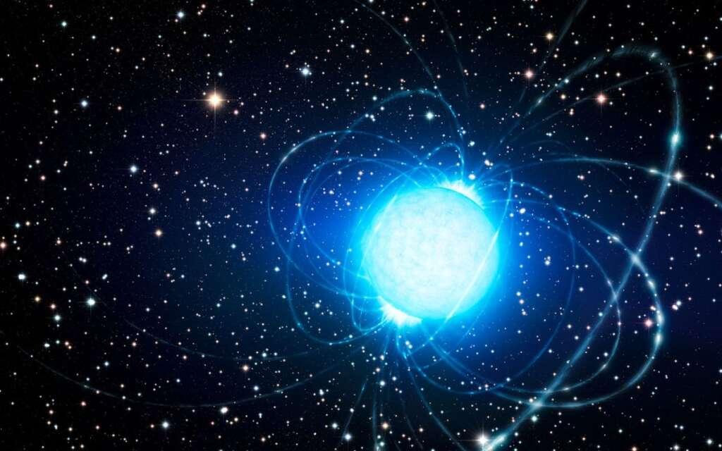 The first magnifying glass appeared in another galaxy: a trembling star
