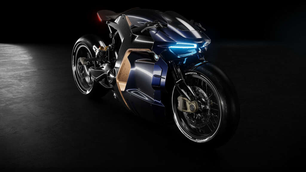 Charm on bicycles;  Take a look at the concept design for BMW motorcycles