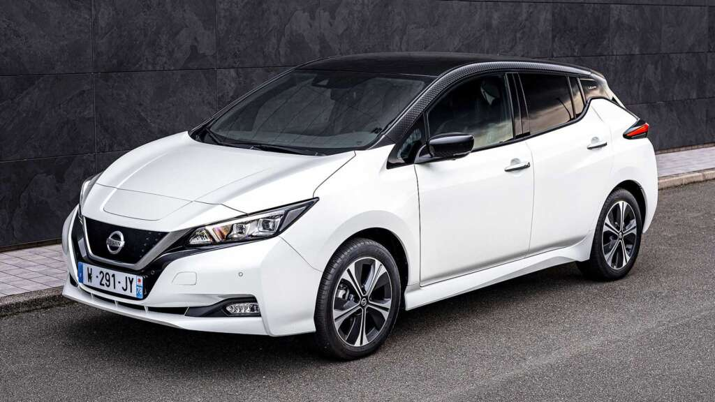 The special version of Nissan Leaf was introduced on the occasion of the 10th anniversary of this car