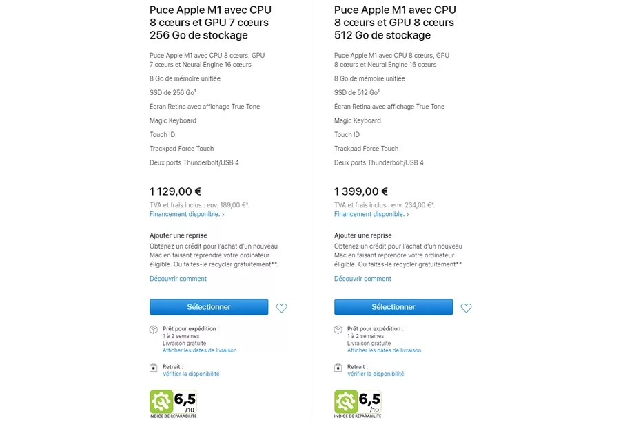 1614418736 673 French law forced Apple to display the repairability index of French law forced Apple to display the repairability index of its products 2