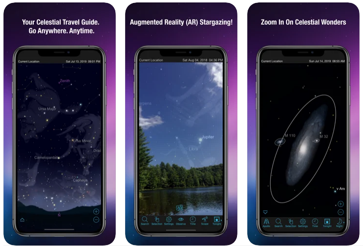 Familiarity with SkySafari application;  The beautiful night sky in your pocket