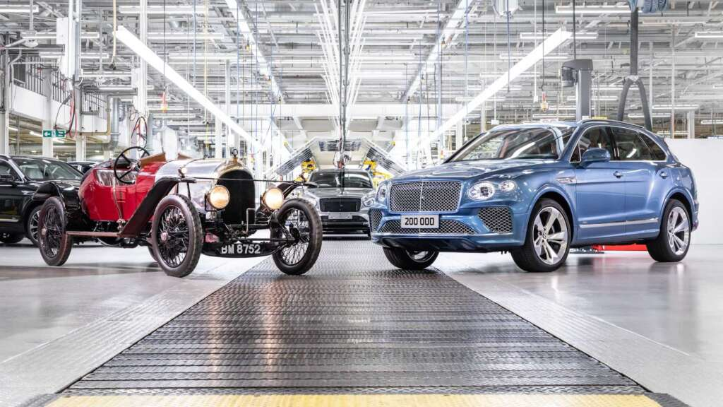 The 200,000th Bentley was produced at the brand's 102nd anniversary