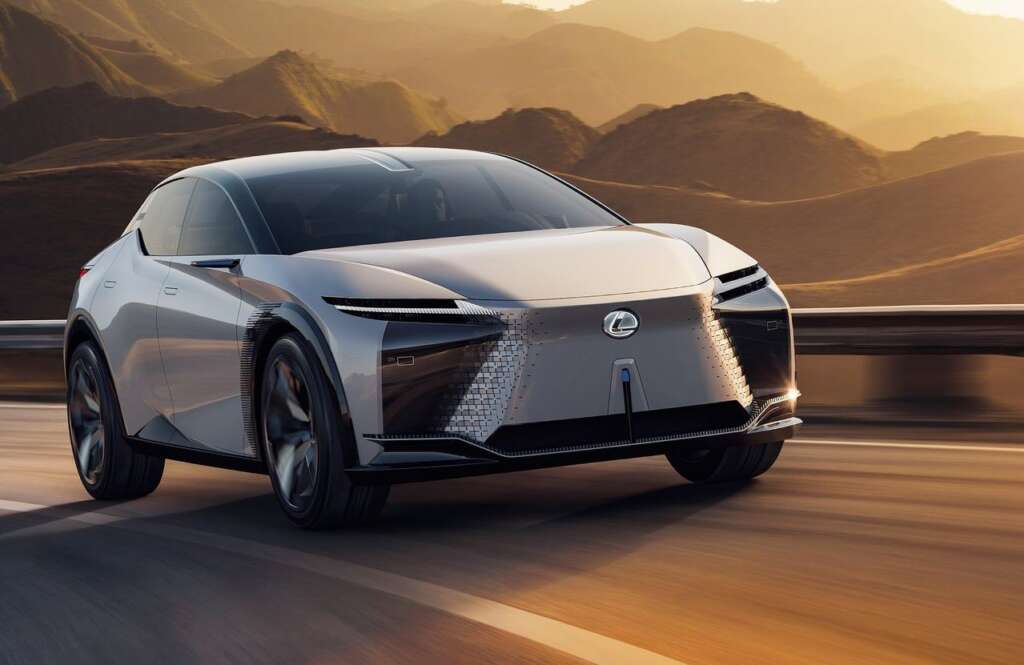 The Lexus LF-Z Electrified concept with 536 hp electric propulsion was introduced