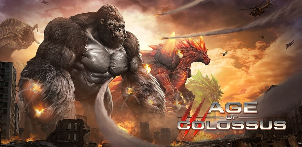 Introducing the game Age of Colossus;  War with Godzilla
