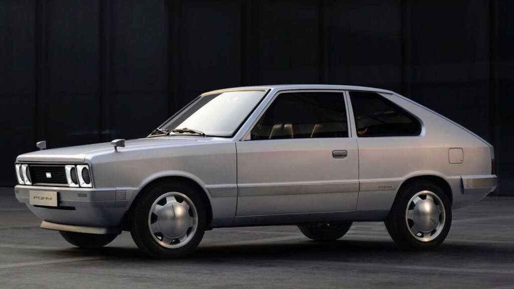 Hyundai Electric Pony was introduced;  A concept to pay tribute to the company's first mass-produced car