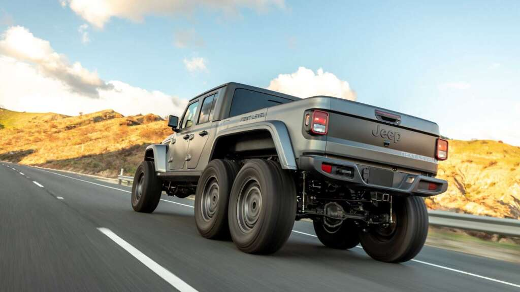 The 6-wheel version of the Jeep Gladiator with a four-cylinder engine was introduced