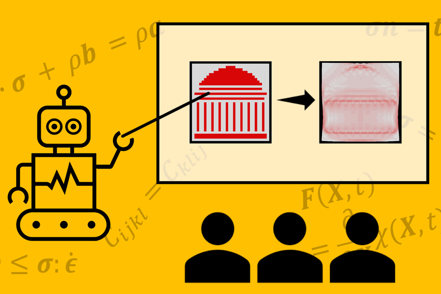 Development of artificial intelligence that calculates the pressure and stress inside the material with the help of photos