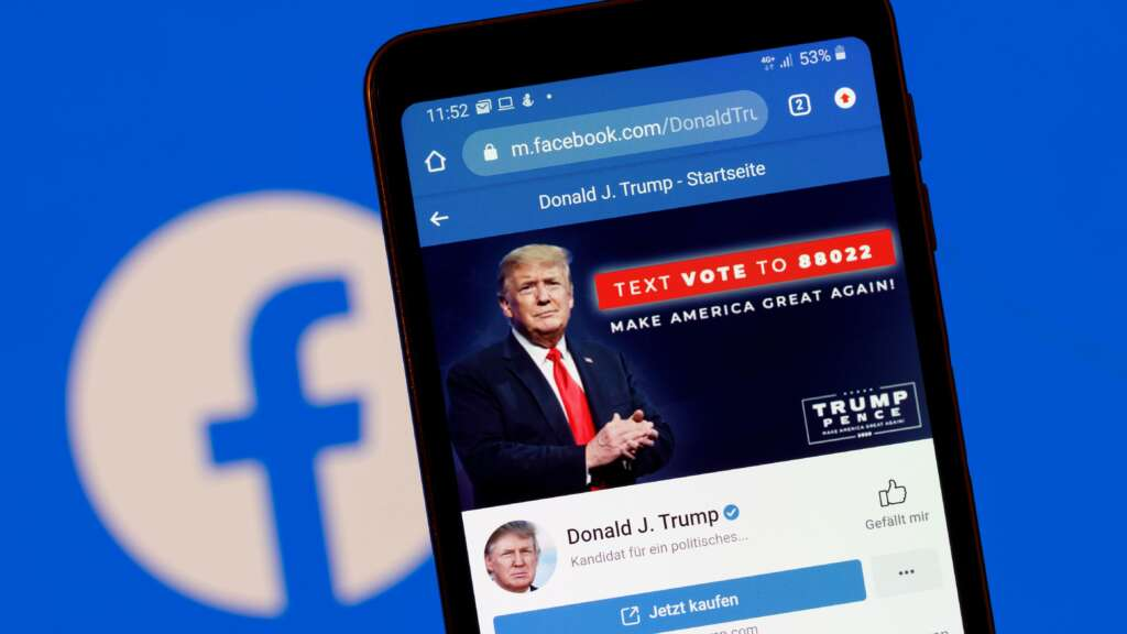 Facebook continues to clash with Trump;  Delete video of an interview with a former US president