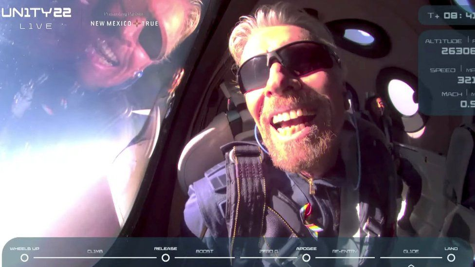 What does Richard Bransons trip to the edge of space What does Richard Branson's trip to the edge of space mean for the future of the space tourism industry? 2
