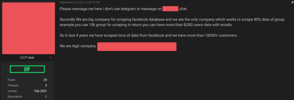 1633377453 632 The possibility of selling personal information of 15 billion Facebook The possibility of selling personal information of 1.5 billion Facebook users was raised 2
